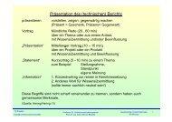 Präsentation des (technischen) Berichts - Technische Universität ...