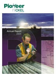 Annual Report 2005 - Pioneer Resources Limited