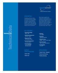 TouchSensor Field-Effect Data Sheet - Methode Electronics, Inc.