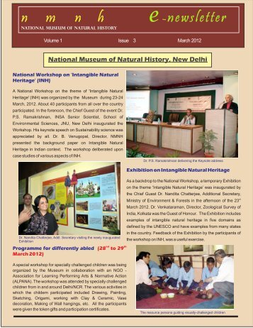 n m n h e-newsletter - National Museum of Natural History