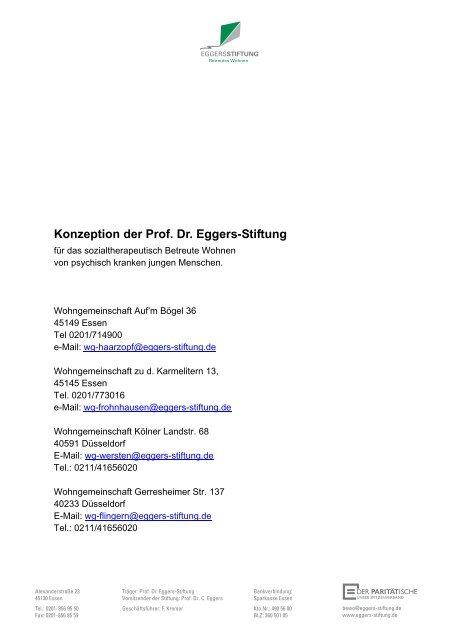 Professor eggers stiftung