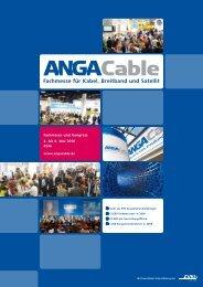 Fachmesse für Kabel, Breitband und Satellit - ANGA COM