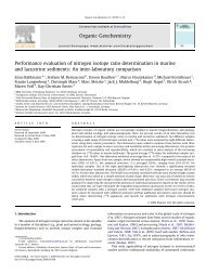 Performance evaluation of nitrogen isotope ratio ... - Igitur
