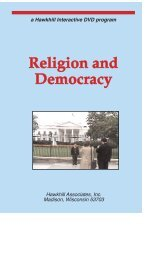 RELIGION AND DEMOCRACY dvd guides - Kinetic Video