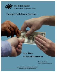 Funding Faith-Based Services in a Time of Fiscal Pressures
