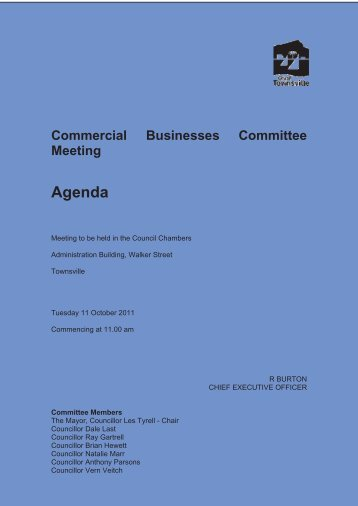 Agenda - Townsville City Council