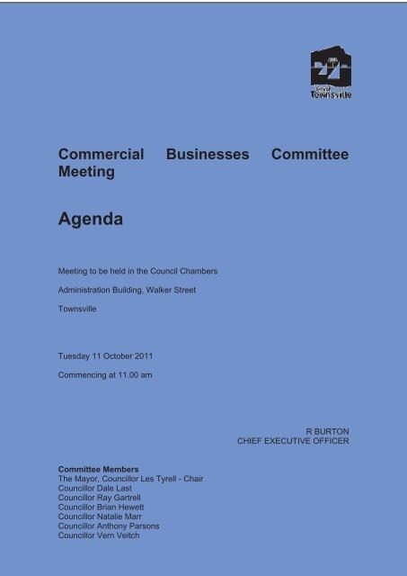 Agenda - Townsville City Council