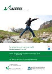 Le comportement entrepreneurial des étudiants en Suisse