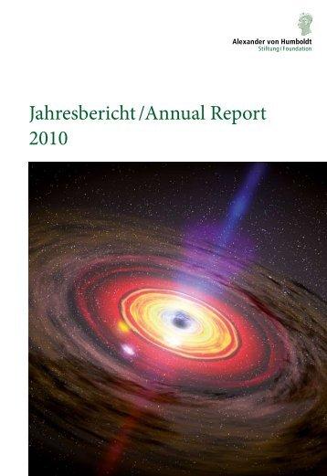 Jahresbericht /Annual Report 2010 - Alexander von Humboldt-Stiftung