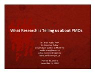 What Research is Telling us about PMOs - UQAM