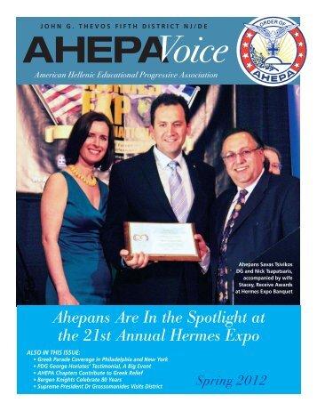 AHEPA Voice Spring 2012 [PDF] - AHEPA District 5