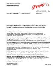 antwortfax - PERO AG