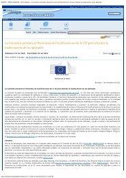 EUROPA - PRESS RELEASES - Press Release - La Comisión ...