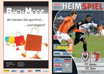 FC Aarau FC Sion