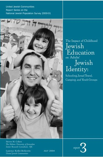 The Impact of Jewish Education on Adults' Jewish Identity