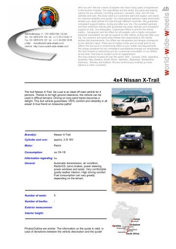 4x4 Nissan X-Trail .ch - World-Wide-Wheels