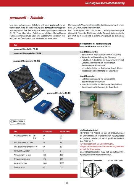perma-trade permasoft PT-PS 5000  Heizungswasserbefüllung nach VDI 2035