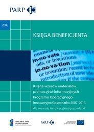 księga beneficjenta - Polska Agencja Rozwoju Przedsiębiorczości