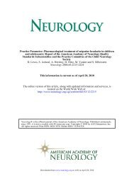 to download the document - Child Neurology Society