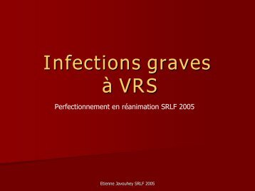 Infections graves à VRS - gfrup