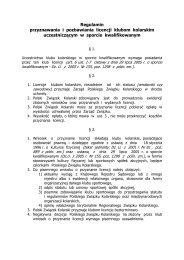 Regulamin wydawania licencji PZKol klubom - format .pdf