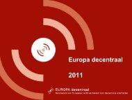 1. Europa decentraal