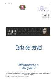 carta dei servizi 2011-2012 - Liceo Classico Statale