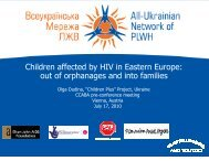 Children Affected by HIV in Eastern Europe - The Coalition for ...