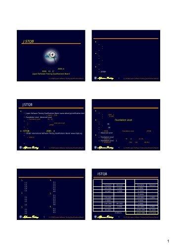 JSTQBテスト技術者資格制度のご案内 - JaSSTソフトウェアテスト ...