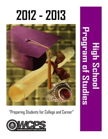 2012-2013 Program of Studies - Washington County, MD Public ...