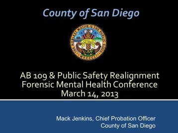 Jenkins Handout - Forensic Mental Health Association of California