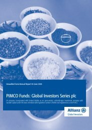 PIMCO Funds: Global Investors Series plc - Fundsupermart.com