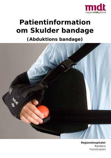 Patientinformation om Skulder bandage - Regionshospitalet Randers