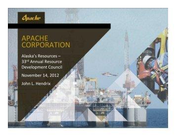 APACHE CORPORATION - Resource Development Council