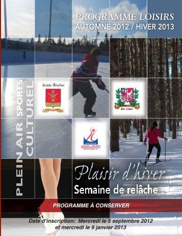 PROG.Automne2012 hiv 2013.qxd - Sainte-Claire