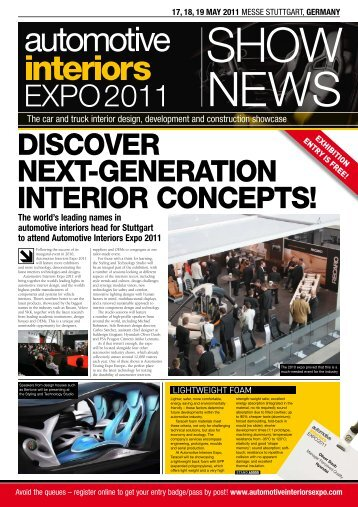 17, 18, 19 MAY 2011 - Automotive Interiors Expo