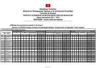République Tunisienne Ministère de l'Enseignement Supérieur et ...