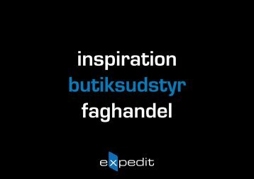 Butiksudstyr - faghandel - Expedit