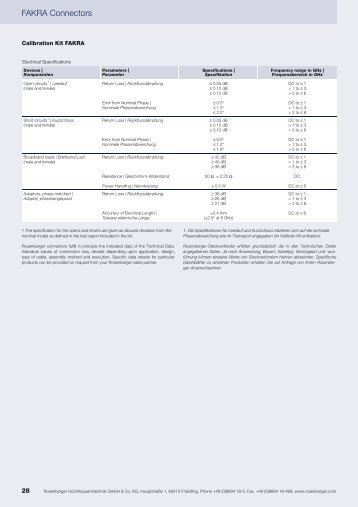 FAKRA SMB RF Calibration Kit - Rosenberger