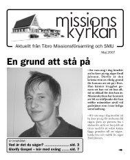 En grund att stå på - Missionskyrkan Tibro