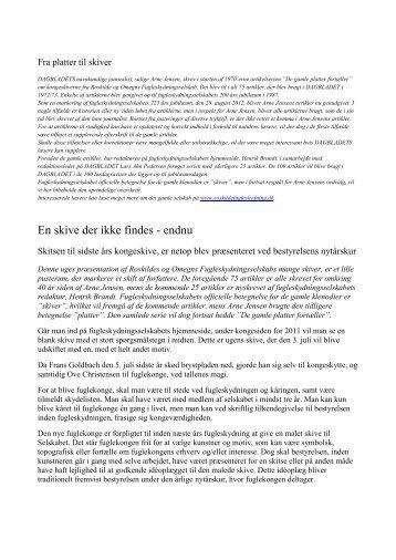 En skive der ikke findes - endnu - roskildefugleskydning.dk