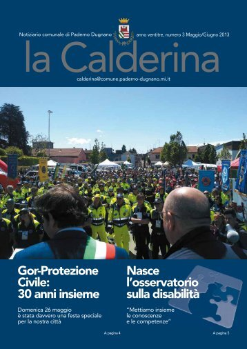 Maggio/Giugno 2013 - Sito Istituzionale del Comune di Paderno ...