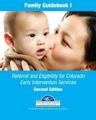 A Family Guidebook - Early Intervention Colorado