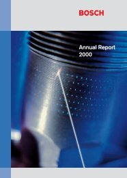 Annual Report 2000 - Bosch worldwide