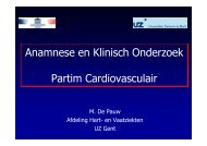Anamnese en Klinisch Onderzoek Partim Cardiovasculair - Skillslab