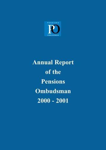 Pensions ombudsman and bench memoranda (pdf) - Families Link ...