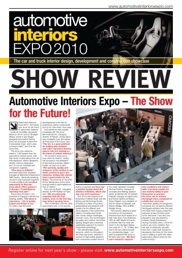 to download the 2010 show review - Automotive Interiors Expo