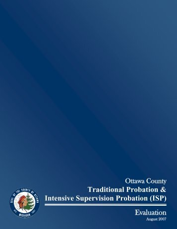 Traditional Probation & Intensive Supervision ... - Ottawa County