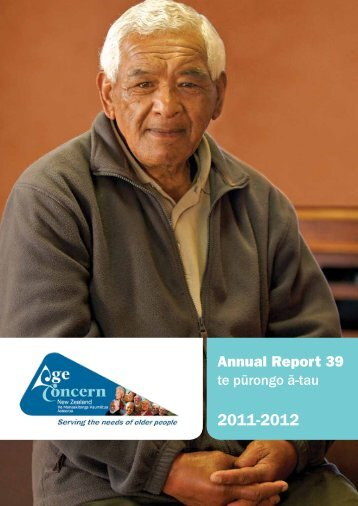 Annual Report 39 - Age Concern New Zealand