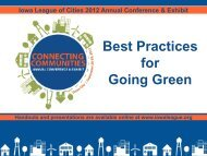 Best Practices for Going Green - Iowa League of Cities